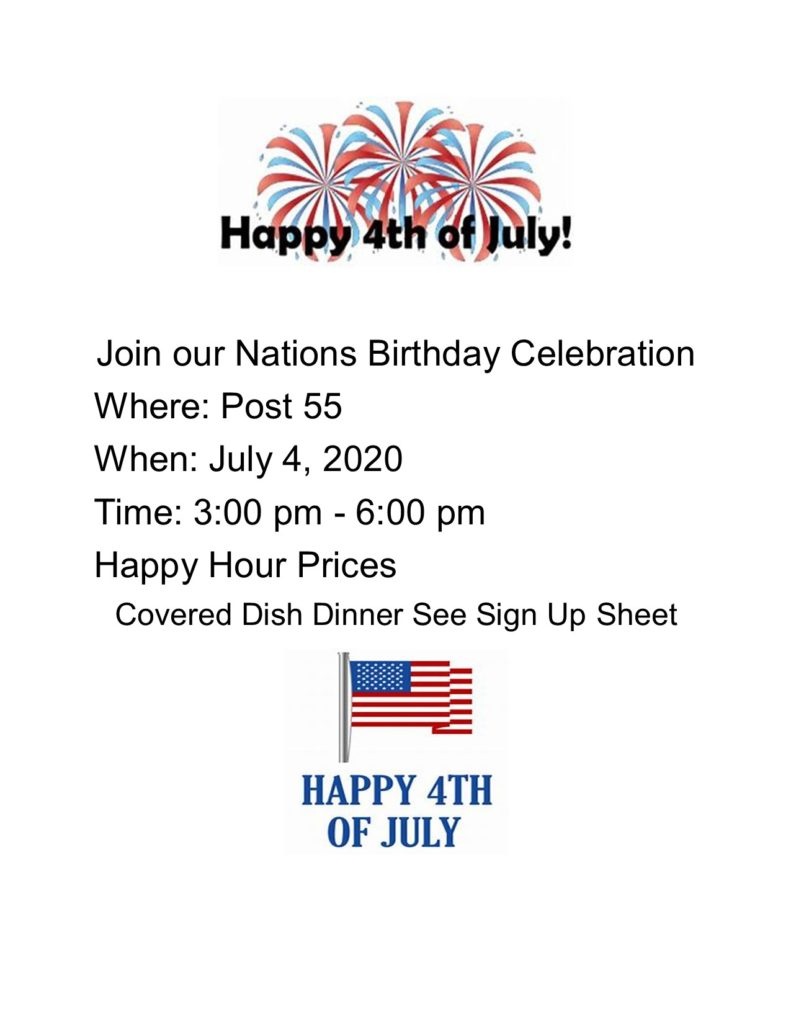 Flyer for July 4th
