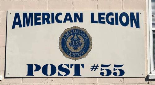 Post 55 Sign